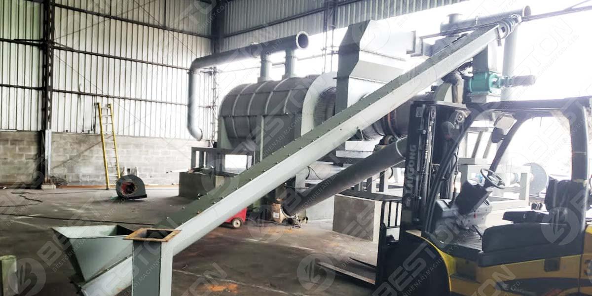 Rice Husk Charcoal Making Machine in Brazil